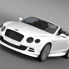 Bentley Continental GT Speed Convertible 2014 3D Model