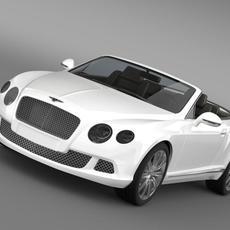 Bentley Continental GTC 2011 3D Model