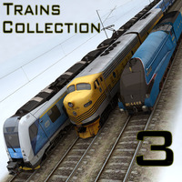 TRAINS COLLECTION 3 3D Model