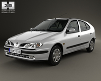 Renault Megane 5-door hatchback 1995 3D Model