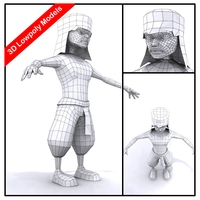 Barbarians 3D Model