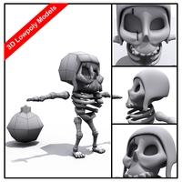 Zombie Cocwallbreaker 3D Model