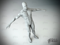 Male body Vray 3D Model