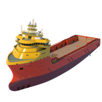 92 m. Platform Supply Vessel 3D Model