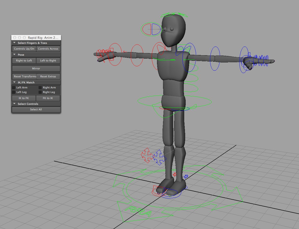 Rapid Rig: Character Kit for Maya - Free Character Rigs Downloads ...