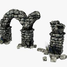 Arch Ruins 3D Model