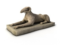 Sphinx ram sculpture 3D Model