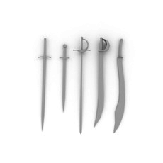 Madievel Weapons 3D Model