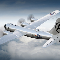 Boeing B-29 Superfortress Bomber 3D Model