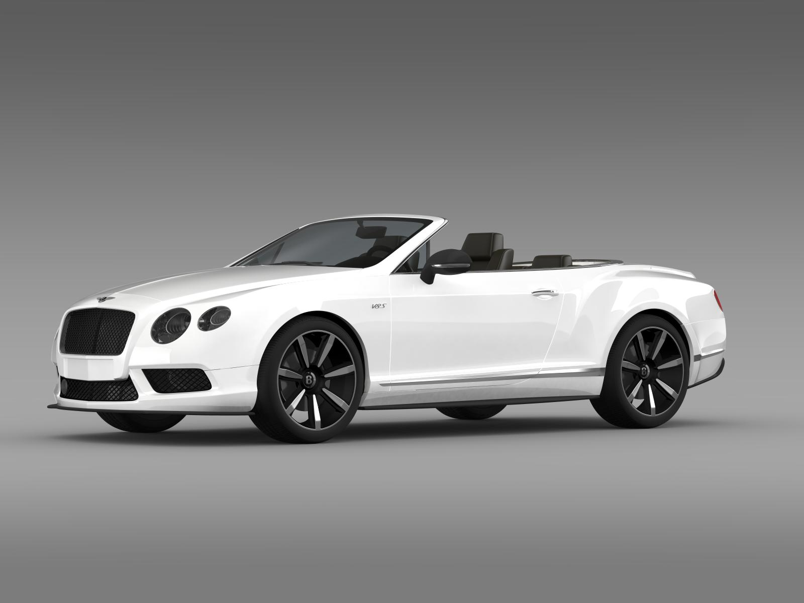 bentley continental gt v8 s convertible 2014 3d model. Black Bedroom Furniture Sets. Home Design Ideas