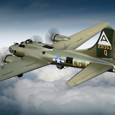 Boeing B-17 Super Fortress Bomber 3D Model