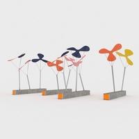 Solar Flowers 3D Model