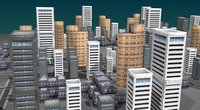 Low poly city 3D Model