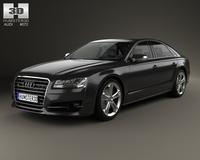 Audi S8 (D4) 2014 3D Model