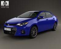 Toyota Corolla S US 2013 3D Model