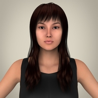 Realistic Young Pretty Lady 3D Model