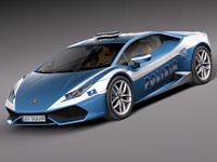 Lamborghini Huracan 2015 Italian Police Car 3D Model