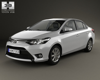 Toyota Yaris sedan 2014 3D Model