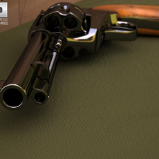 Colt Single Action Army 1873 3D Model