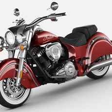 Indian Chief Classic motorcycle 3D Model