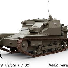 Carro Veloce CV-35 Radio version 3D Model