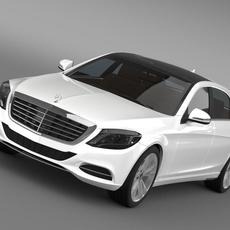 Mercedes Benz S 300 BlueTec Hybrid W222 2014 3D Model