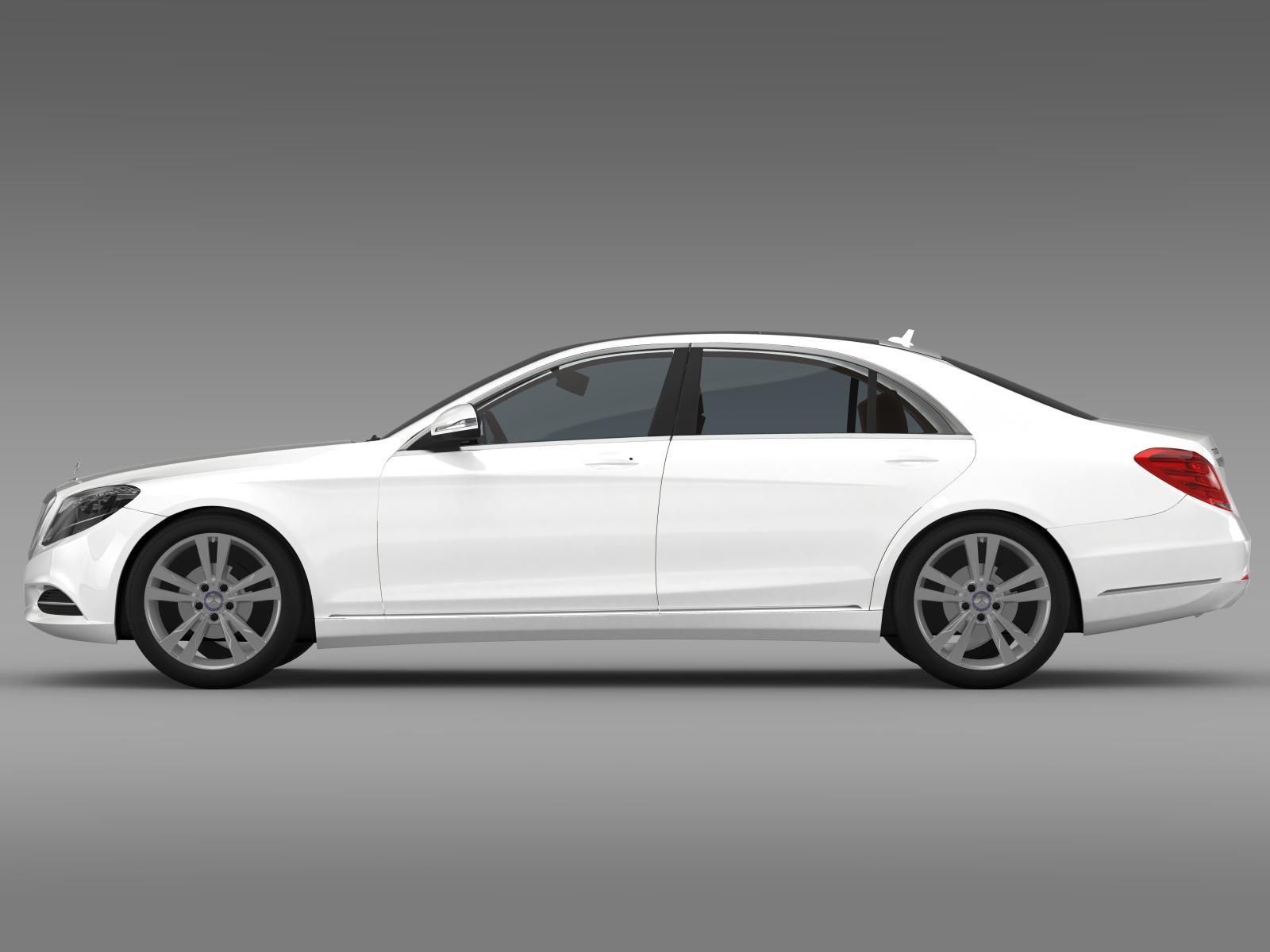 Mercedes benz s 300 bluetec hybrid w222 2014 3d model for Mercedes benz bluetec