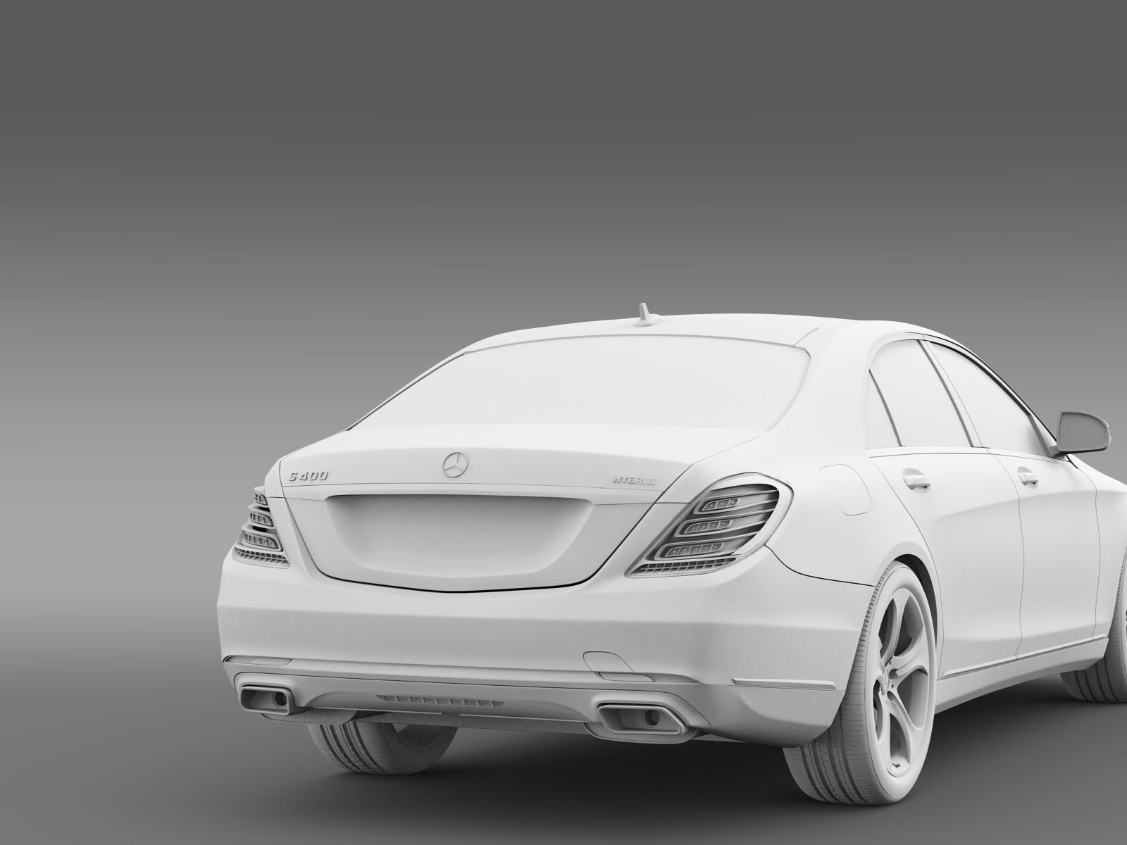 Mercedes benz s 400 hybrid w222 2013 3d model for Hybrid mercedes benz