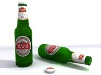 Beer Bottle 3D 3D Model