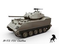 M-113 FSV Chaffee 3D Model