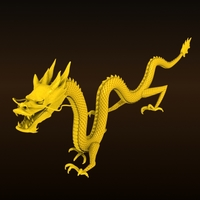High detailed Chinese dragon 07 3D Model