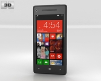 HTC Windows Phone 8X Graphite Black 3D Model