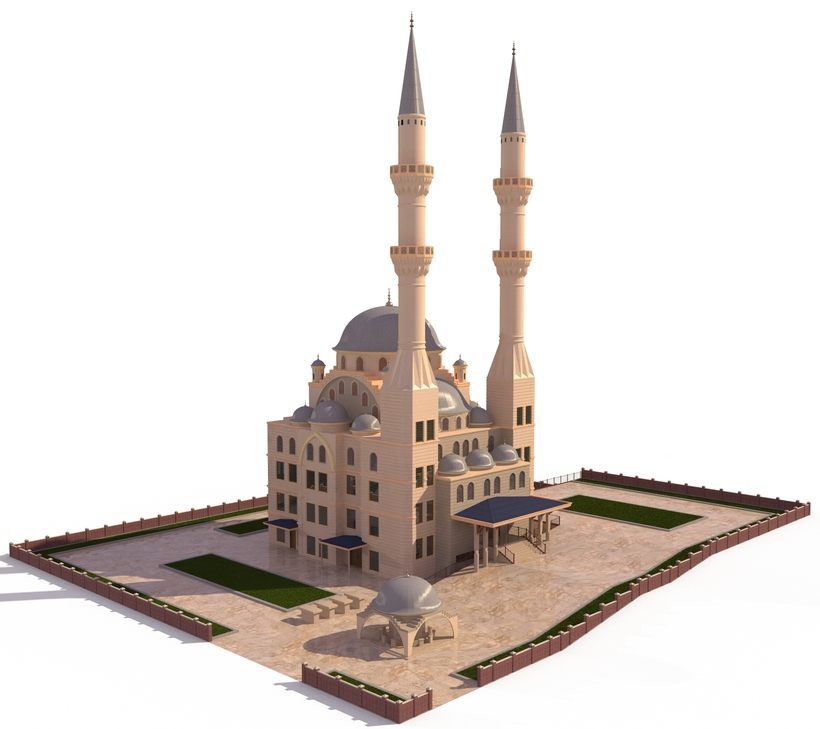 MOSQUE - HI RES 3D Model