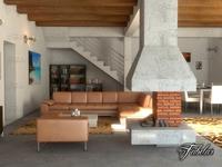 living room 09 3D Model
