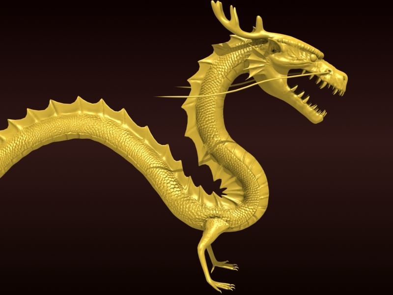 High detailed Chinese dragon 08 3D Model