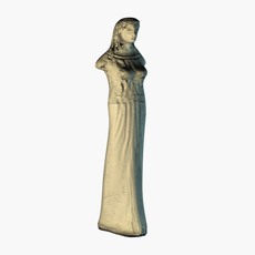 Low poly female statue 3D Model
