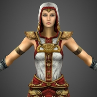 Fantasy Female Princess Ratika 3D Model