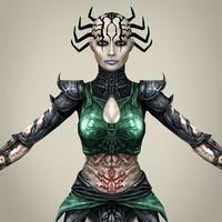 Fantasy Girl Princess Hirly 3D Model