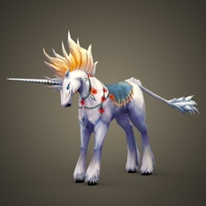 Fantasy Unicorn 3D Model