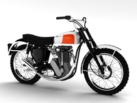 BSA B44 Victor Enduro 1966 3D Model