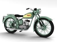 Free BSA Bantam D1 1948 3D Model