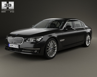 BMW 7 Series (F02) with HQ interior 2013 3D Model