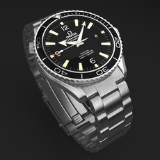 Omega Seamaster Planet Ocean Steel Braclet Mens Watch 3D Model