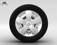 Chevrolet Aveo Wheel 15 inch 001 3D Model