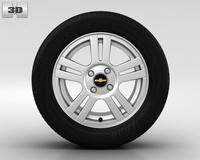 Chevrolet Aveo Wheel 15 inch 002 3D Model