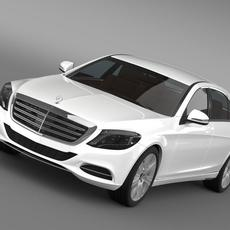 Mercedes Benz S 600 Guard W222 2014 3D Model