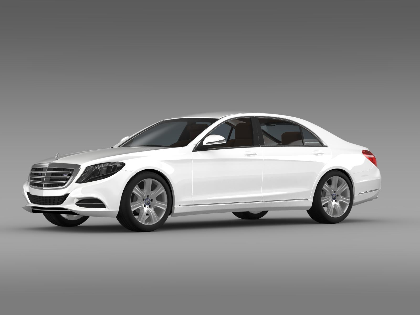 Mercedes benz s 600 guard w222 2014 3d model for Mercedes benz guard