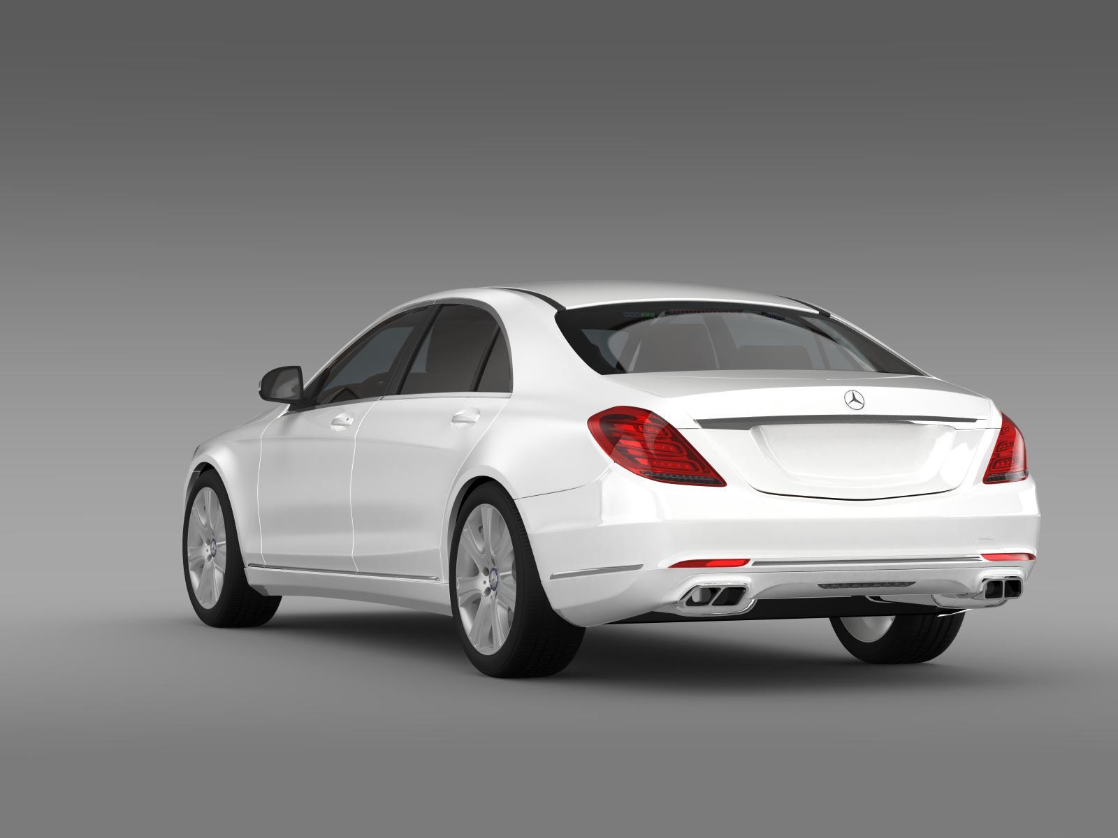 Mercedes benz s 600 guard w222 2014 3d model for S 600 mercedes benz
