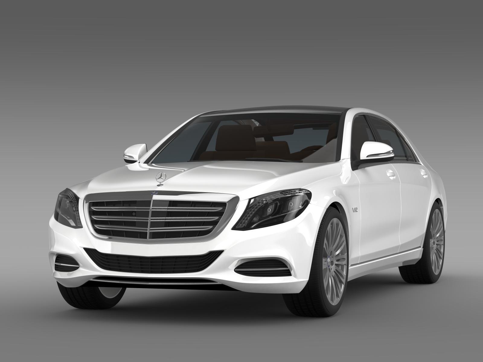 Mercedes benz s 600 v12 w222 2014 3d model for Mercedes benz s 600 v12