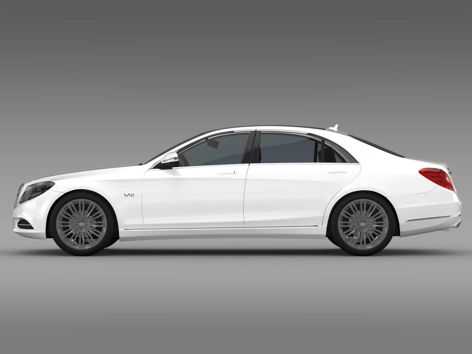 Mercedes benz s 600 v12 w222 2014 3d model for Mercedes benz s models